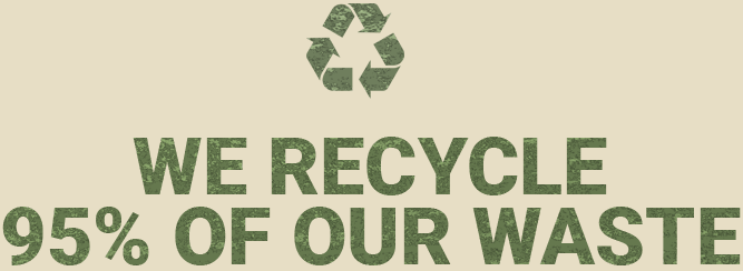 ATW Clearances We recycle 95% of our waste